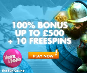 Vera & John – 10 Free Spins on Gonzo's Quest